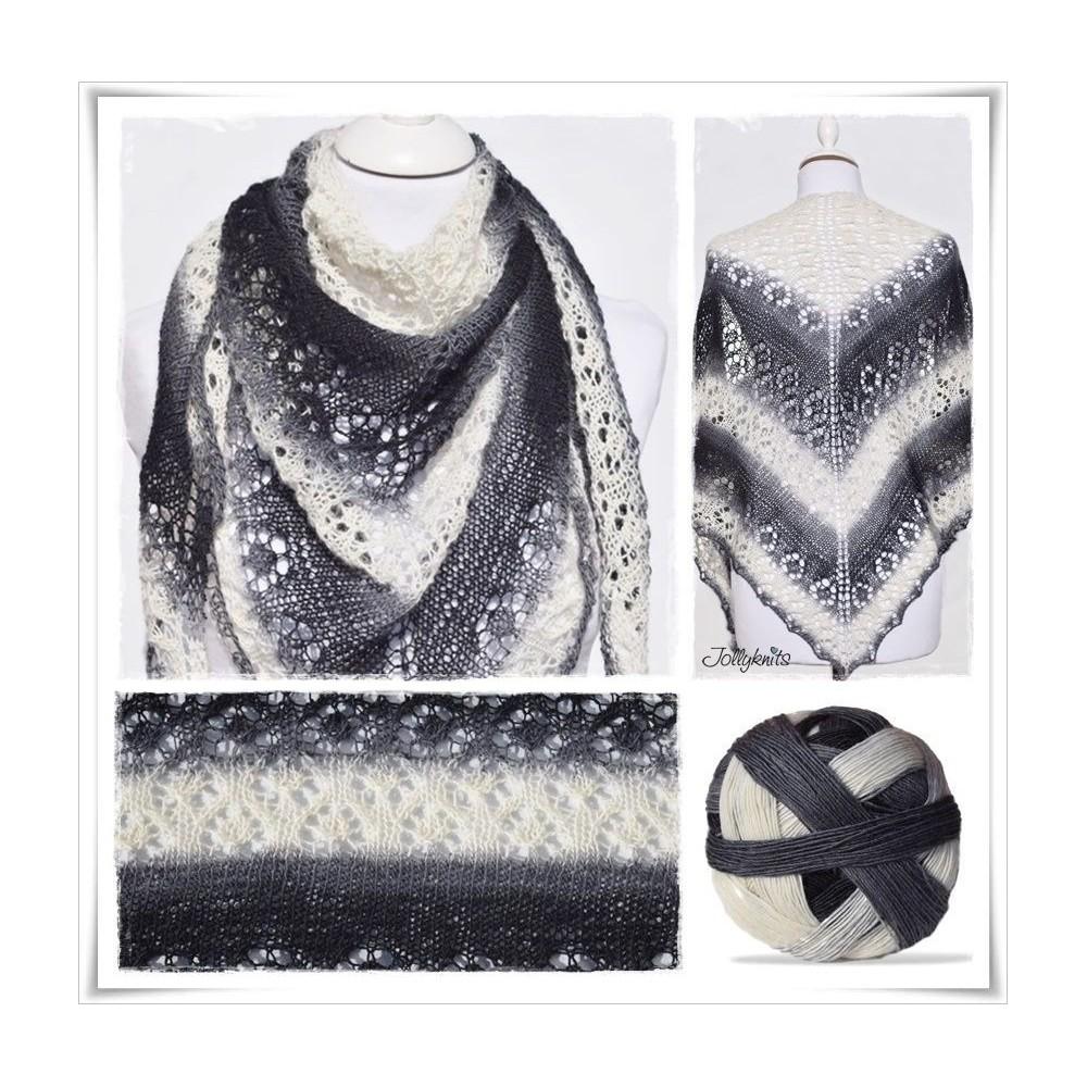 Knitting Pattern Lace Shawl SHADOW