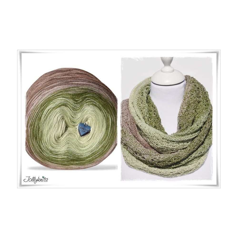 Product bundle Knitting pattern + Gradient Yarn Merino PISTACHE