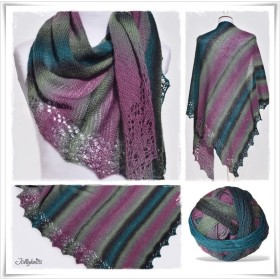 Knitting Pattern Lace Shawl STRIPES