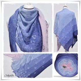 Knitting Pattern Lace Shawl FORGET ME NOT
