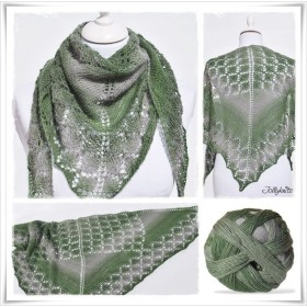 Knitting Pattern Lace Shawl IRISH MOSS