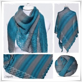 Knitting Pattern Lace Shawl EMERALD DREAM
