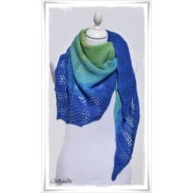 Knitting Pattern Lace Shawl PEACOCK
