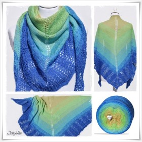 Knitting Pattern Lace Shawl PEACOCK