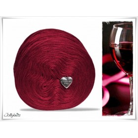 Wolle einfarbig Merino WINE RED