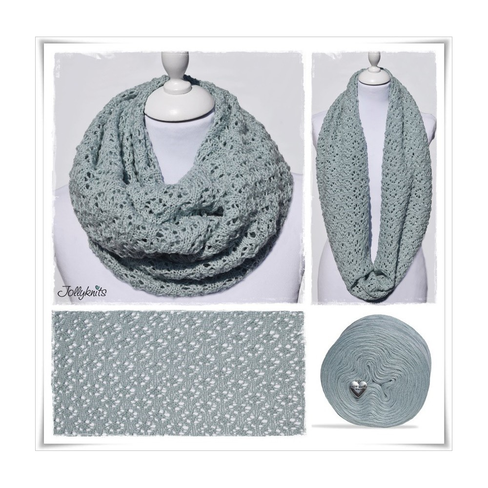 Knitting Pattern Cowl MINT FLOWERS