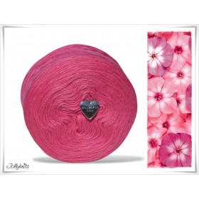 Wolle einfarbig Merino ROSE RED