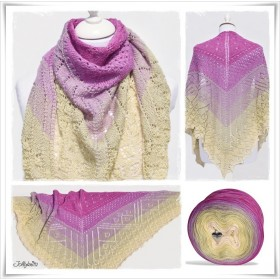 Knitting Pattern Lace Shawl TEA FLOWER