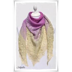 Knitting Pattern Lace Shawl TEA FLOWER