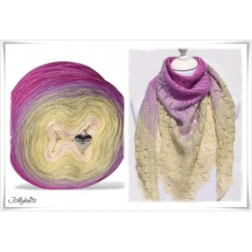 Product bundle Knitting pattern + Gradient Yarn Merino TEA FLOWERS