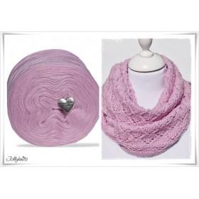 Product bundle Knitting pattern ROSE GARDEN + Solid Yarn Merino COOL PASTEL PINK