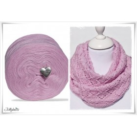 Produktkombination Strickanleitung ROSE GARDEN + Wolle einfarbig Merino PASTEL PINK