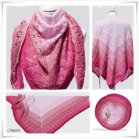 Knitting Pattern Lace Shawl CHERRY LADY