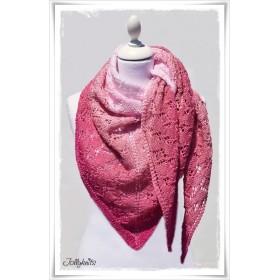 Knitting Pattern Lace Shawl CHERRY LADY