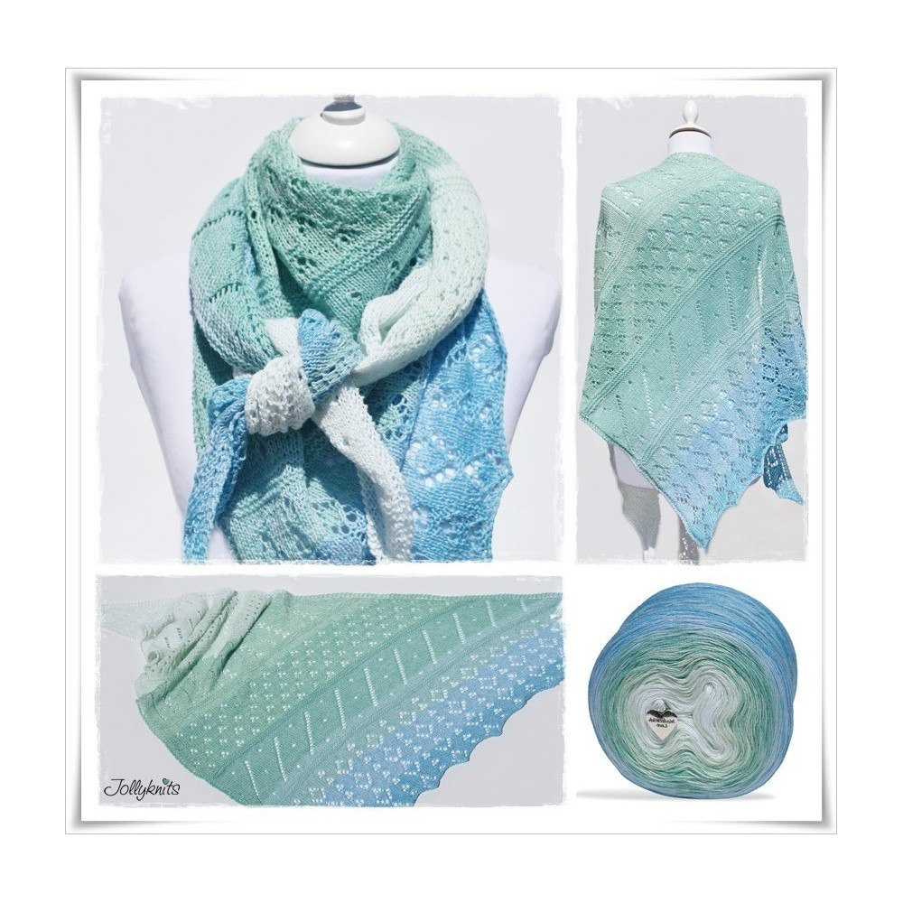 Knitting Pattern Lace Shawl SEA BREEZE