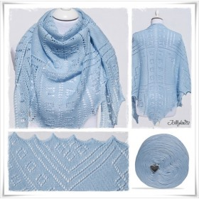 Knitting Pattern Lace Shawl HEAVENLY