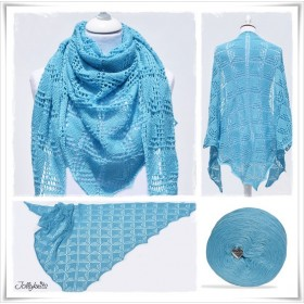 Knitting Pattern Lace Shawl CARIBBEAN
