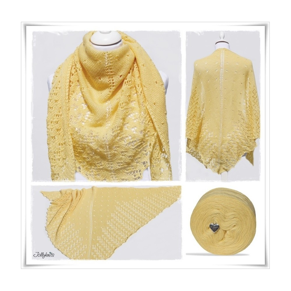 Knitting Pattern Lace Shawl CITRONELLA
