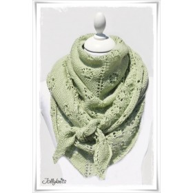 Knitting Pattern Lace Shawl FLOWERS & LIME