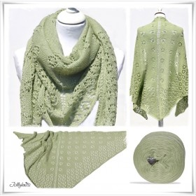 Strickanleitung Lacetuch FLOWERS & LIME