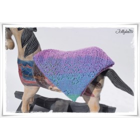 Knitting Pattern Baby Blanket BLOOMING