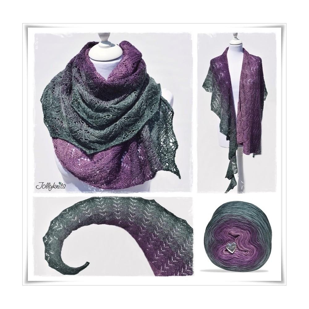 Knitting Pattern Lace Shawl DRAGONFLY