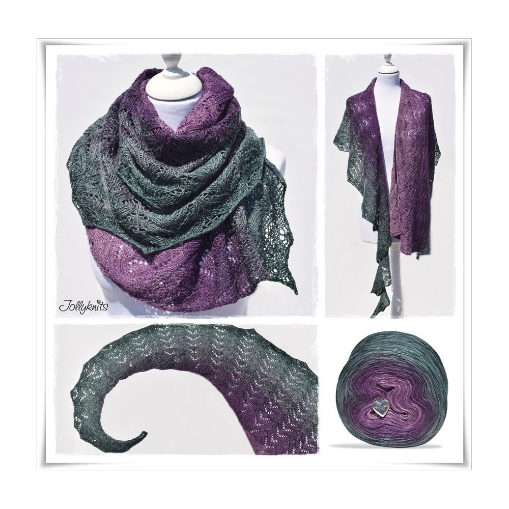 Knitting Pattern Lace Shawl DRAGONFLY