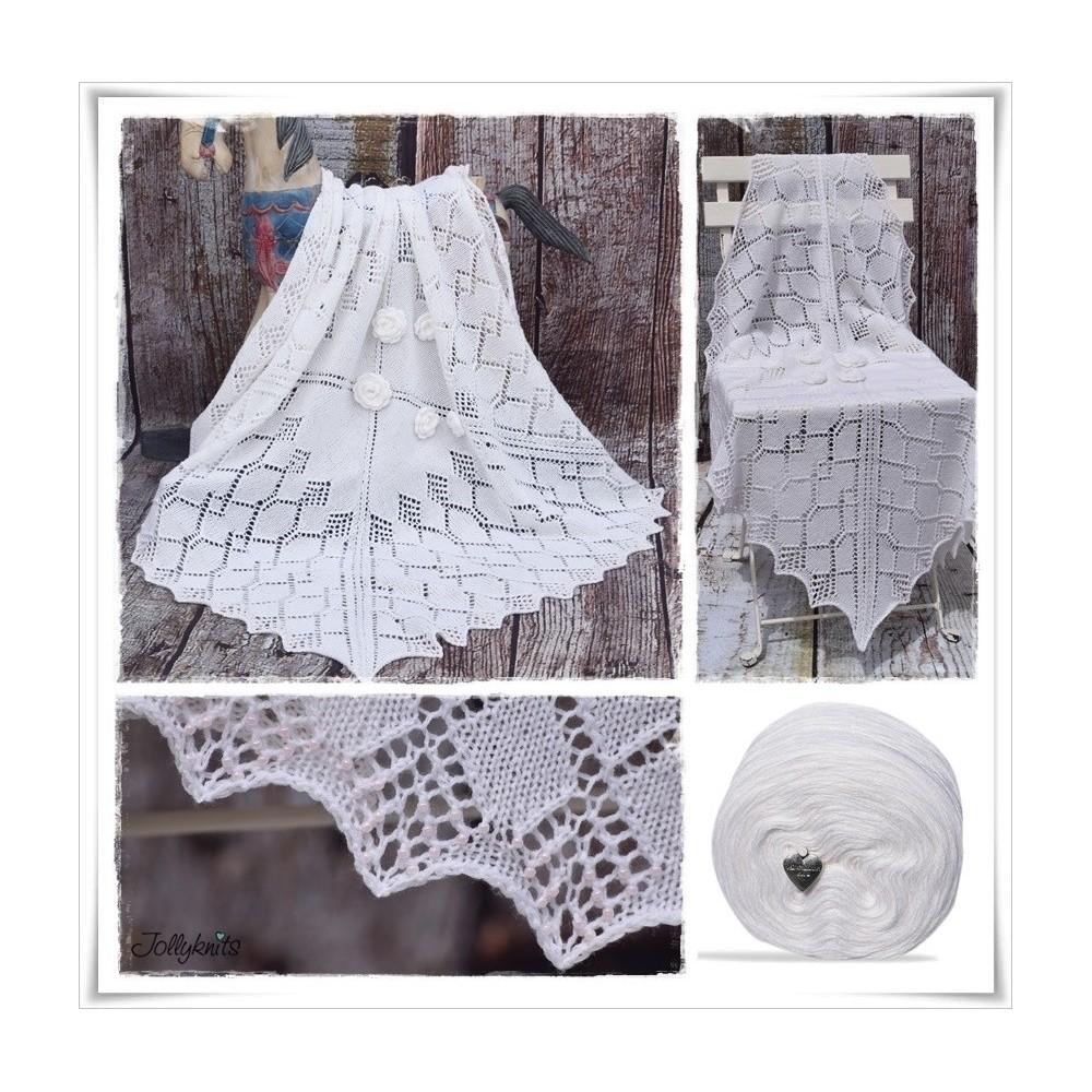 Knitting Pattern Baby Blanket YUKIKO