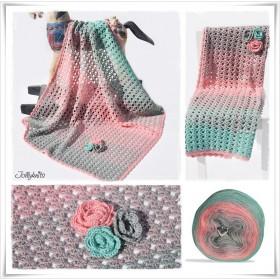 Crochet Pattern Baby Blanket ICE QUEEN