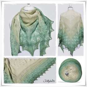Knitting Pattern Lace Shawl PETIT GRENOUILLE