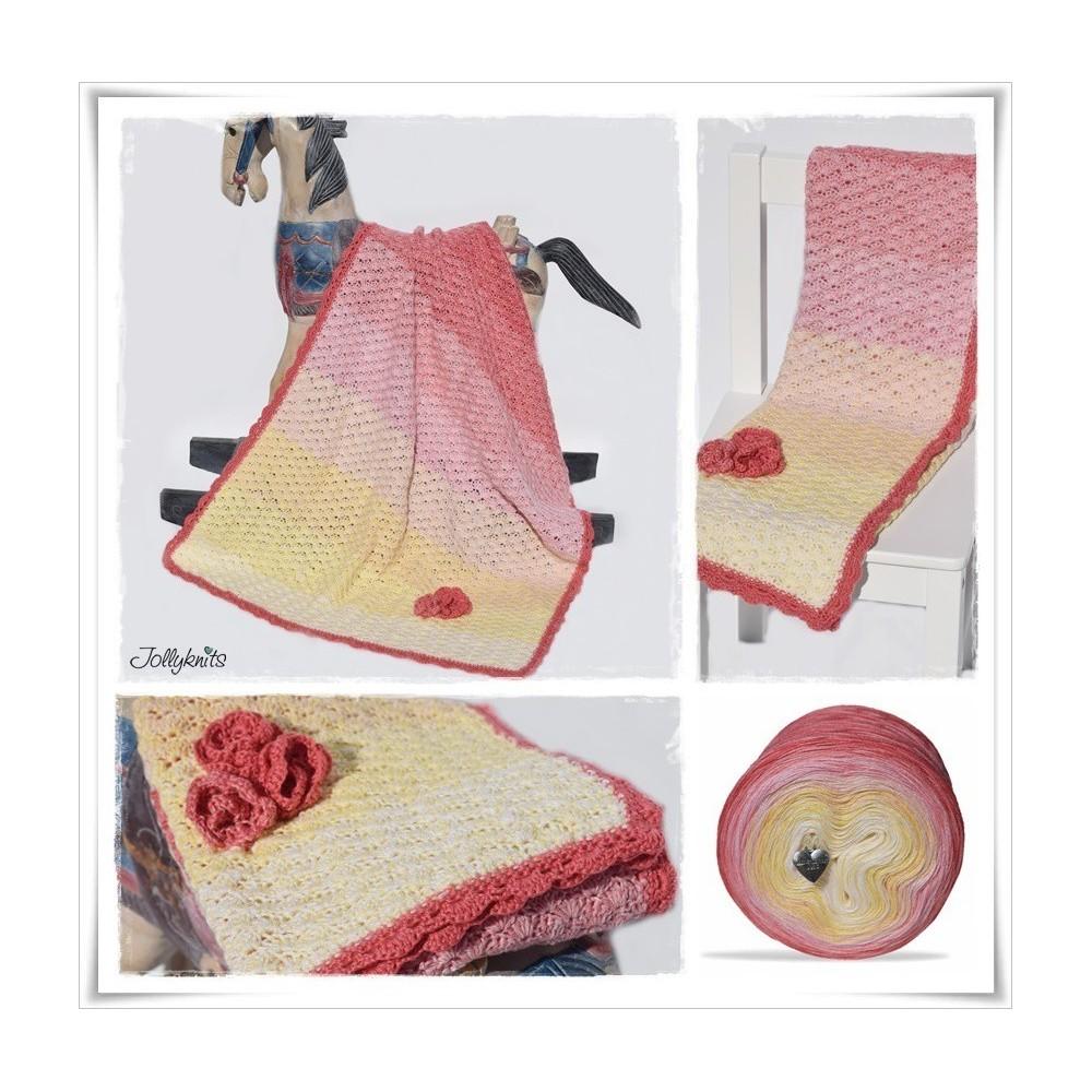 Crochet Pattern Baby Blanket WATER LILY