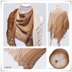 Knitting Pattern Lace Shawl GINGERBREAD