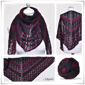 Knitting Pattern Lace Shawl TWILIGHT