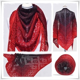 Knitting Pattern Lace Shawl X-MAS