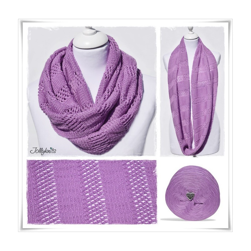 Knitting Pattern Cowl SWEET VIOLET