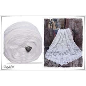 Product bundle Knitting pattern YUKIKO + Solid Yarn Merino OFFWHITE