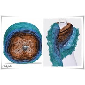 Product bundle Knitting pattern + Gradient Yarn CANARD BLEU
