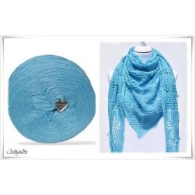 Product bundle Knitting pattern CARIBBEAN + Solid Yarn Merino BABY BLUE