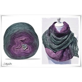 Product bundle Knitting pattern + Gradient Yarn DRAGON FLY
