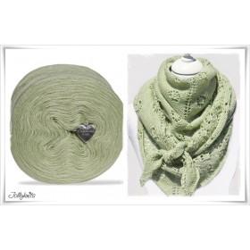Produktkombination Strickanleitung FLOWERS & LIME + Wolle einfarbig Merino LIME GREEN