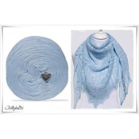 Produktkombination Strickanleitung HEAVENTLY + Wolle einfarbig Merino ICE BLUE