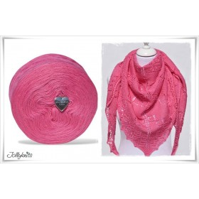 Product bundle Knitting pattern HOT PINK + Solid Yarn Merino CERISE