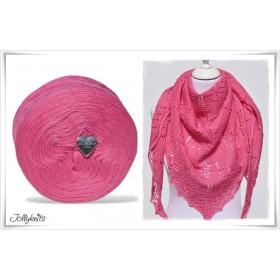 Produktkombination Strickanleitung HOT PINK + Wolle einfarbig Merino CERISE
