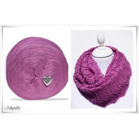 Produktkombination Strickanleitung MALVA + Wolle einfarbig Merino ORCHIDEA