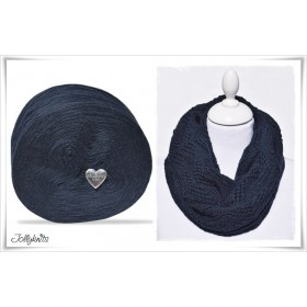 Produktkombination Strickanleitung NIGHT SKY + Wolle einfarbig Merino DARK NIGHT BLUE
