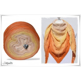 Product bundle Knitting pattern + Gradient Yarn ORANGE JUICE