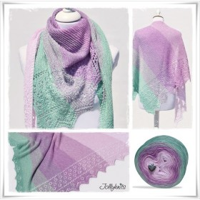 Knitting Pattern Lace Shawl SPRING BREAK