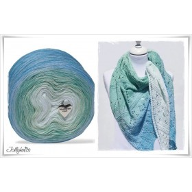 Product bundle Knitting pattern + Gradient Yarn SEA BREEZE