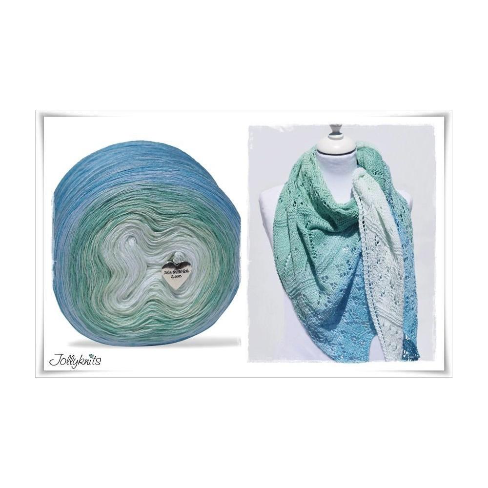 Product bundle Knitting pattern + Gradient Yarn SEA BREEZE