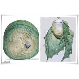 Produktkombination Strickanleitung + Farbverlaufswolle Merino PETITE GRENOUILLE